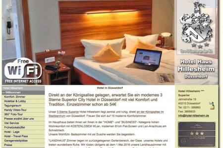 Fahrradfahrerfreundliches Hotel Hillesheim in Düsseldorf