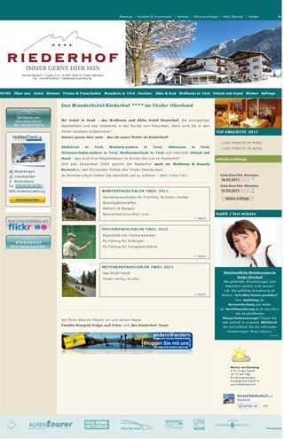 Fahrradfahrerfreundliches Wanderhotel Riederhof**** in Ried im Oberinntal