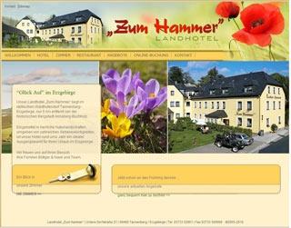 Webseite vom familienfreundlichen Landhotel zum Hammer in Tannenberg / Erzgebirge