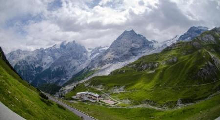 Motorrad Berghotel Franzenshöhe 2188m in Trafoi in Stilfserjoch