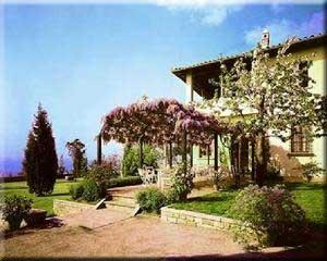 Motorrad Hotel Restaurant Villa Le Rondini in Fiesole / Florenz in Florenz