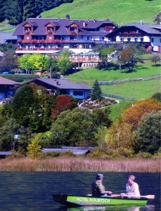 Motorrad Hotel Kolbitsch in Weissensee in