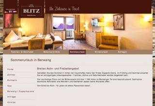 Fahrradfahrerfreundliches Hotel Blitz in Berwang