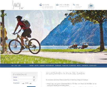 Fahrradfahrerfreundliches HOTEL SAVOY PALACE in Riva Del Garda