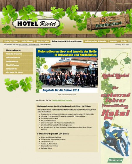 Fahrradfahrerfreundliches Hotel Riedel in Zittau