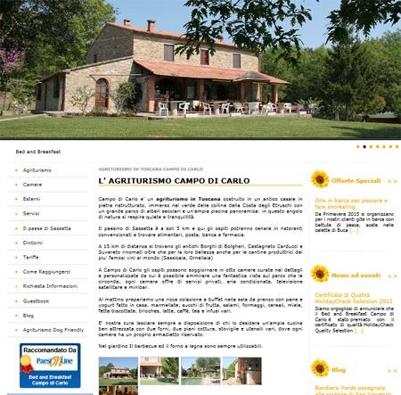 Fahrradfahrerfreundliches Agriturismo Campo Di Carlo in Sassetta