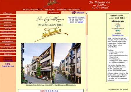 Fahrradfahrerfreundliches Weinhotel Hubertus in Klotten
