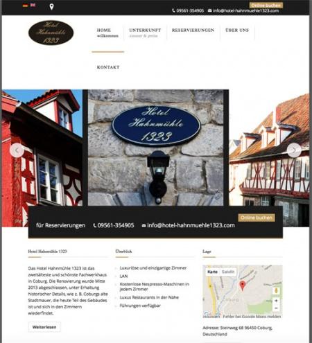 Fahrradfahrerfreundliches Hotel Hahnmühle 1323 in Coburg