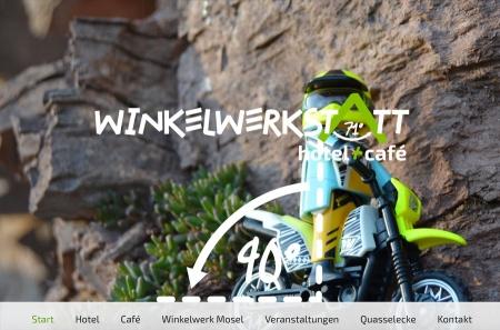 Fahrradfahrerfreundliches WINKELWERKSTATT hotel + café in Kröv