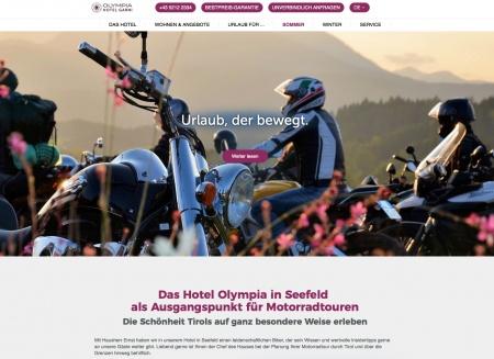 Fahrradfahrerfreundliches Hotel Olympia in Seefeld in Seefeld