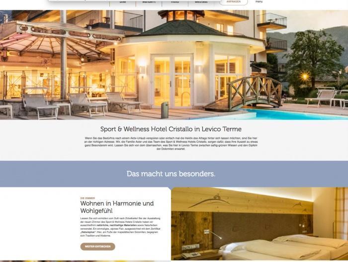 Fahrradfahrerfreundliches Sport & Wellness Hotel Cristallo in Levico Terme (TN)