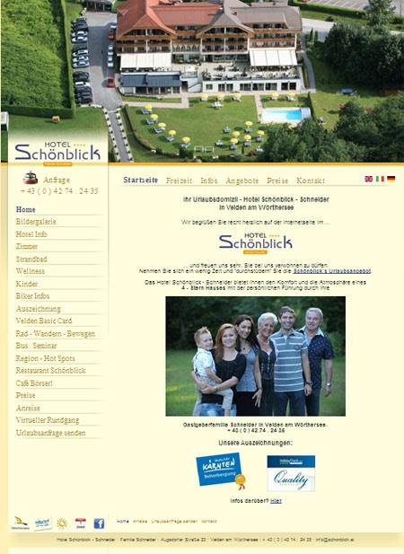 Fahrradfahrerfreundliches Hotel SCHÖNBLICK - Schneider GmbH in Velden am Wörthersee