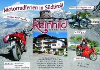 Particolarmente motociclistico Pernottamento all Hotel-Pension Reinhild di Nals / Südtirol