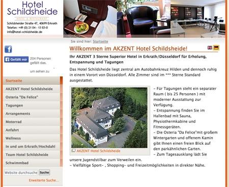 Fahrradfahrerfreundliches Akzent Hotel Schildsheide in Erkrath-Hochdahl