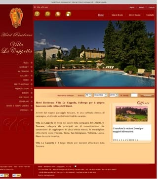 Fahrradfahrerfreundliches Hotel - Residence Villa La Cappella in Montespertoli (Firenze)