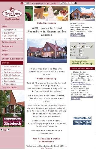 Fahrradfahrerfreundliches Hotel Rosenburg in Husum