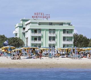 Motorrad Hotel Montecarlo in Bibione in Adriaküste