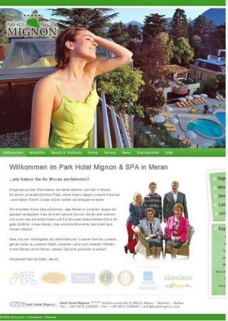 Fahrradfahrerfreundliches Park Hotel Mignon in Meran