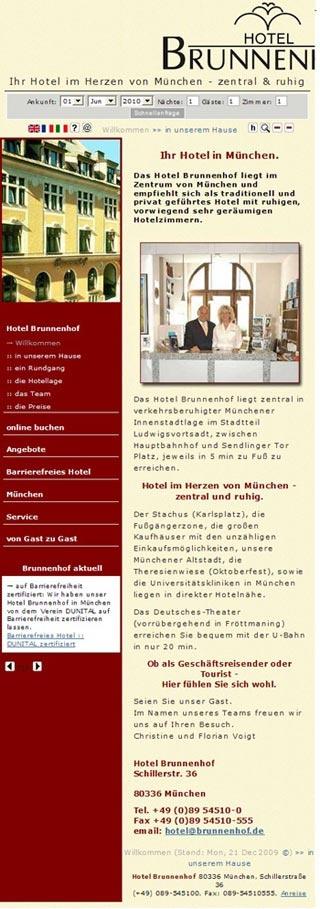 Fahrradfahrerfreundliches Hotel Brunnenhof in München