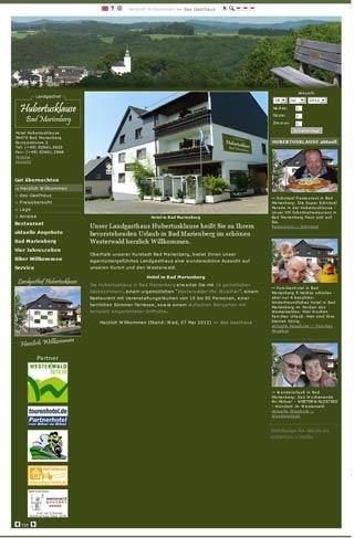 Fahrradfahrerfreundliches Landgasthaus Hotel Hubertusklause in Bad Marienberg