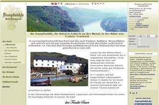 Fahrradfahrerfreundliches Moselromantik-Hotel Dampfmühle in Enkirch / Mosel