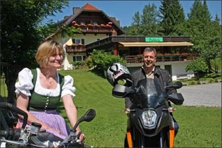 Particolarmente motociclistico Pernottamento all Kraners Alpenhof di Weissensee