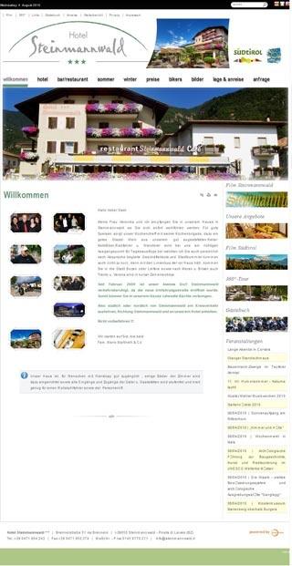 Fahrradfahrerfreundliches Hotel Steinmannwald in Leifers Steinmannwald
