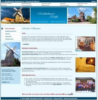 Fahrradfahrerfreundliches Hotel & Restaurant Mecklenburger Mühle in Wismar - Dorf  Mecklenburg