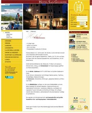 Fahrradfahrerfreundliches Hotel San Giuseppe in Finale Ligure