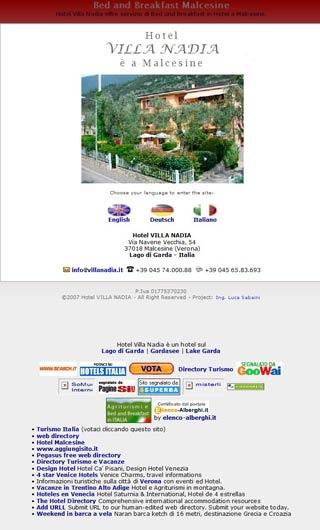 Fahrradfahrerfreundliches Hotel Villa Nadia in Malcesine