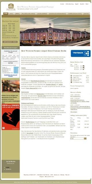 Fahrradfahrerfreundliches Airporthotel Fontane Berlin - Best Western Premier in Berlin (Mahlow)