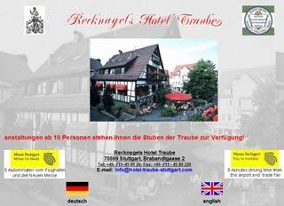 Fahrradfahrerfreundliches Recknagels Hotel Traube in Stuttgart