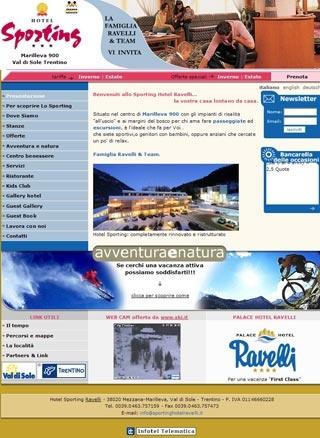 Fahrradfahrerfreundliches Hotel Sporting Ravelli in Mezzana (Tn)