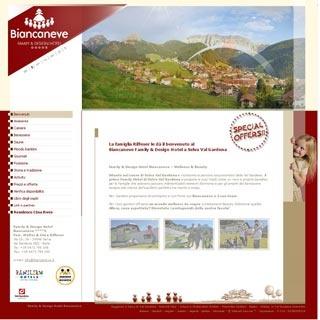 Fahrradfahrerfreundliches Family & Design Hotel  Biancaneve in Selva di Val Gardena (BZ)