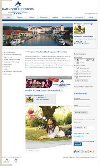 Fahrradfahrerfreundliches Maritim Hafenhotel Rheinsberg in Rheinsberg
