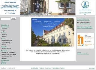 Fahrradfahrerfreundliches Kloster Maria Hilf in Bühl