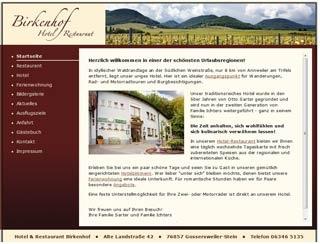 Fahrradfahrerfreundliches Hotel - Restaurant Birkenhof in Gossersweiler - Stein