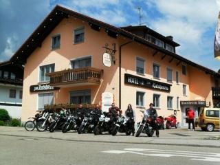 Motorrad Alpenhotel Zum Ratsherrn in Sonthofen in Allgäu