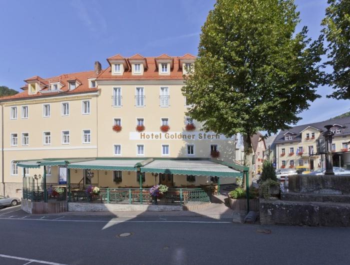 Motorrad Hotel Goldner Stern **** in Muggendorf in Fränkische Schweiz