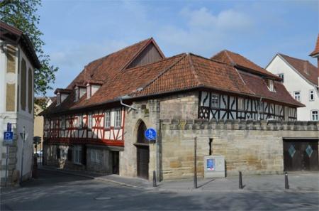 Motorrad Hotel Hahnmühle 1323 in Coburg in Frankenwald
