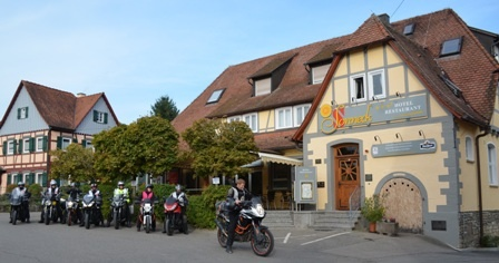 Hotel for Biker Hotel - Restaurant Sonneck in Schwäbisch Hall in Hohenlohe - Franken