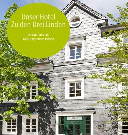 Fahrrad Hotel Restaurant zu den 3 Linden in Wermelskirchen